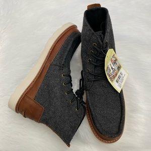 NEW in Box-TOMS Herringbone/Leather Boots Sz 7
